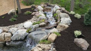 water feature, pond, waterfall